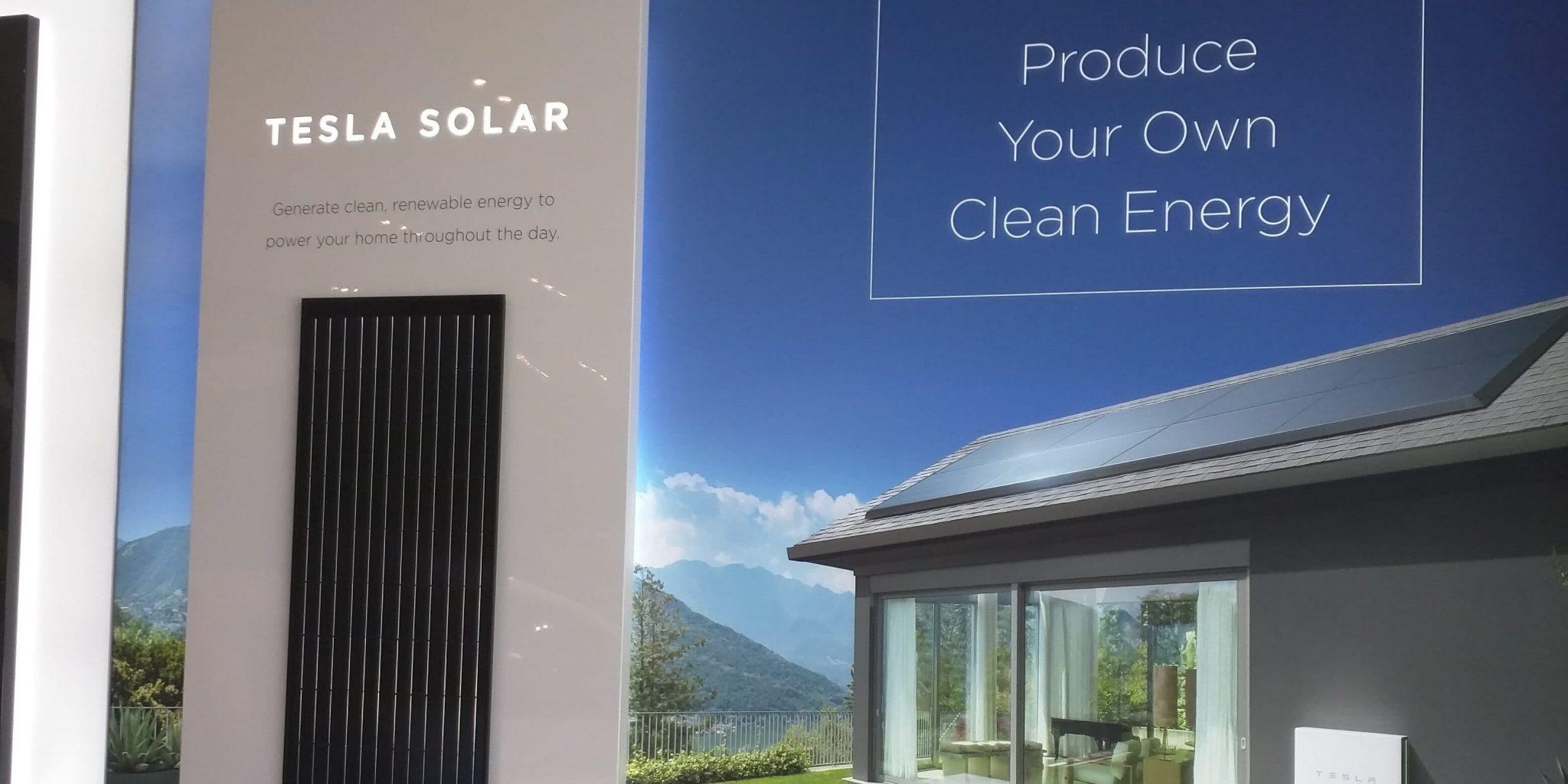 نظم الطاقة الشمسية من تيسلا