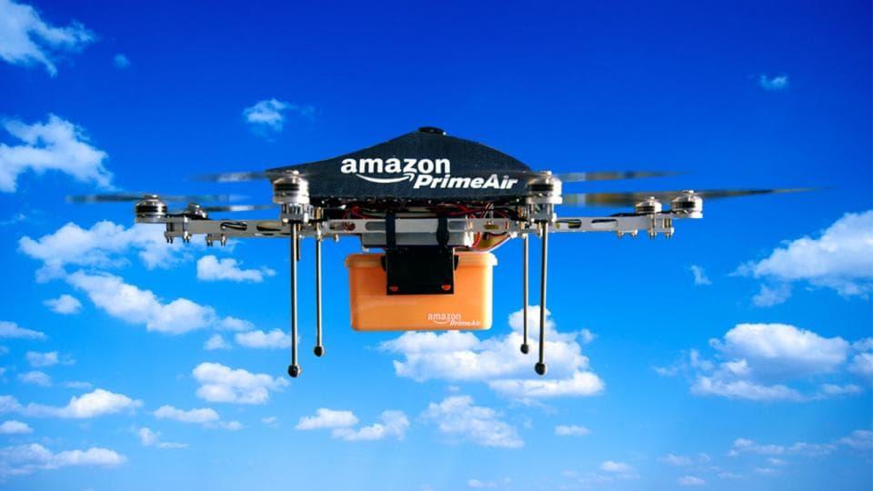 استخدام الدرون في توصيل الطلبات ضمن Amazon Prime Air