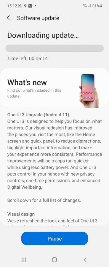 Galaxy Z Flip إلى اندرويد 11 2