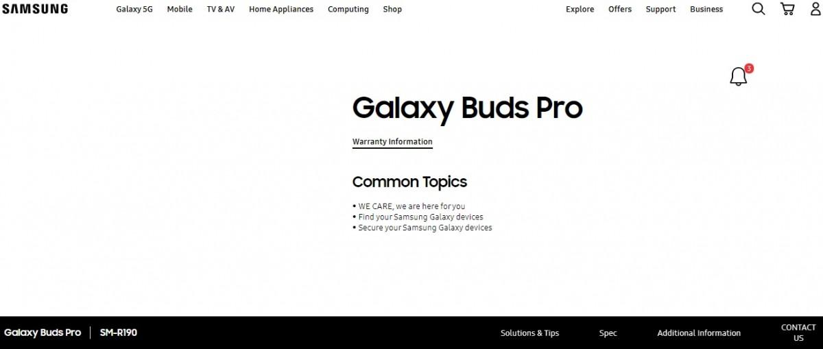 سامسونج تؤكد Galaxy Buds Pro قبل الإطلاق الرسمي 1